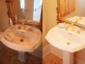 Gallery Before After Cleaning Photos - Bathroom cleaning lady